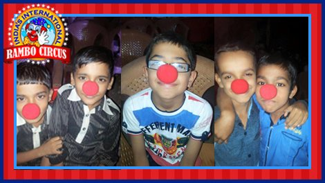 Kids with clown nose as a part of WCD theme