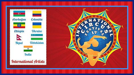 Circus festival logo and list of participating countries