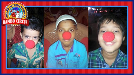 Clown nose selfies